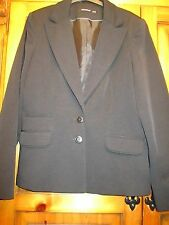 ATMOSPHERE Black Tailored Formal Work Jacket Size 12 in Immaculate Condition