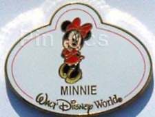 Disney Pin 64970 WDW Nametags Mystery Name Tag Minnie Mouse Authentic LE 1600