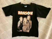 NEW VTG 1997 HANSON BLACK COTTON SHORT SLEEVE KIDS T SHIRT YOUTH KIDS SIZE  M