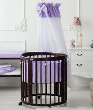 ComfortBaby® Babybett SmartGrow 7in1 - Holzfarbe Braun + Bettset + Matratze