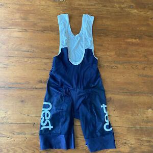 Abloc Mens Small Cycling Bibshorts Compression Shorts Bib Nest Blue S