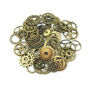 Lot 20pcs Bronze Watch Parts Steampunk Cyberpunnk Cogs Gears DIY Jewelry Crafts