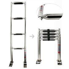 4 Step Wide Steps Stainless Steel Telescoping Boat Ladder Swim Step Amarine-made