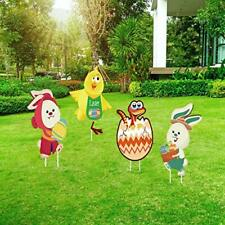 AuLinx Easter Yard Signs Decorations Outdoor Lawn with Easter-1