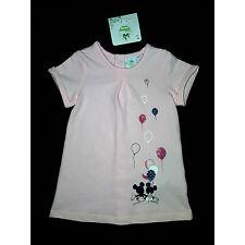 DISNEY BABY robe manches courtes bébé  MINNIE rose 12 mois NEUVE
