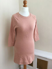 Zara Cotton Blend Casual Dresses Round Neck
