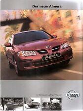 Prospekt / Brochure Nissan Almera 03/2000