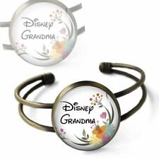 Disney Grandma Cuff Bracelet Bronze Glass Top Handcrafted for Grandmothers Gift