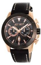 Jet Set Orologio da uomo Vienna j6339r-237 Analogico Cronografo Pelle Nero