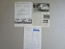 N°7381 / FAIRTHORPE : 3 prospectus 1966-1968