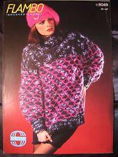 Papier knitting pattern ~ vintage sirdar c8049 pour femme femme pull & béret