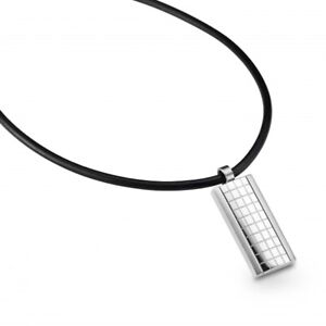 CEM Collier Herren Schmuck Halskette 50cm Kette Leder Edelstahl-Anhänger ST6-057