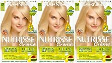 3 x Garnier Nutrisse Permanent Dye 10A Natural Extra Light Brilliant Blonde Ash