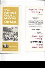 1980 Road Map MISSOULA Montana University Campus Western Federal Savings & Loan