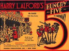 HARRY L. ALFORD'S HUNGRY FIVE. GERMANY - Oktoberfest German Deutsch Sheet Music