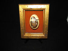 Vintage Handpainted Goose Egg In Shadow Box Frame- Signed by Artist - Searcy