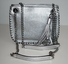 MICHAEL KORS Damen Tasche WHIPPED CHELSEA Leder silver SM MESSENGER