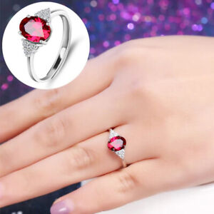 Fashion Wedding Engagement Ring Copper Crystal Adjustable Rings Womens Jewelry