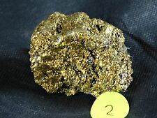 2) Aura Geode Silicon Carbide Gold - Crystal Mineral - Great Gift