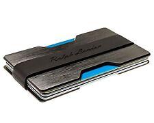 Men Slim Front Pocket Wallet Credit Card Holder Money Clip Black Thin RFID Block