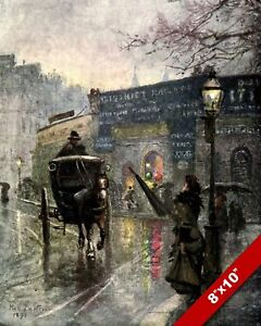 SOUTH KENSINGTON STATION IN 1900'S OLD LONDON ENGLAND UK REAL CANVAS PRINT