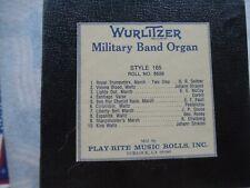 New ListingWurlitzer 165 Band Organ Roll 6529