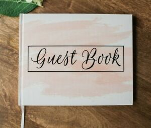 New Blank Guest Book Pink Blush Weddings, Baby Showers, Polaroid Album Guestbook