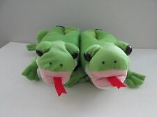 New Comfy Feet Size M Unisex Green Frog Animal Feet Slippers