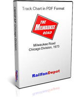 Milwaukee Road Chicago Division Track Chart 1973 - PDF on CD - RailfanDepot