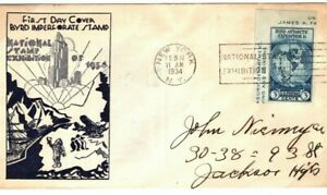 USA First Day Cover *BYRD IMPERFORATE ISSUE*Antarctic Stamp Exhibition 1934 SU30