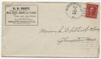 1908 Perkiomenville PA doane cancel ad cover LKU #319 2ct shield [3438]