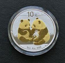 Panda 2009 -  silver gilded