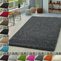 Soft Shaggy Verona Rug Living Room Bedroom Carpet Hallway Runner Non Shed Pile