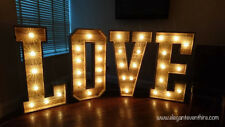 Large Light Up letters for sale Wood 4ft LOVE Cabochon Bulbs #weddings #events