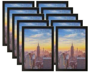 Frame Amo Black Wood Picture Frame or Poster Frame, 10-PACK, 40sizes Refurbished