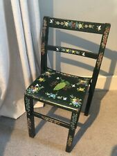 Canalware Bargeware Vintage Childs Chair Hand Painted