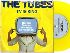 """THE TUBES - TV IS KING - RARE 7"""" 45 YELLOW VINYL RECORD w DIE CUT SLV - 1979"""