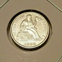 1888 Seated Liberty Dime   UNCIRCULATED DETAILS   Amazing Coin!