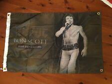 ACDC biker flag poster banner print garage AC DC man cave flag bon Scott album