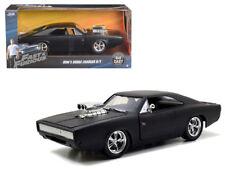 1970 Dodge Charger R/T Fast & Furious Doms MATT Black 1/24 Diecast Jada 97174