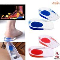 Silicone Gel Heel Inserts Plantar Fasciitis Pain Relief Cushion Support Running