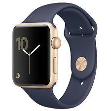 Apple Watch 2 38mm Gold Alu Case With Midnight Blue Sport Band