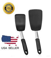 Kitchen Spatula Silicone Turner Pancake Egg Heat Resistant 440 Degrees Cooking
