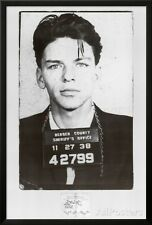 Frank Sinatra Mugshot Lamina Framed Poster Print - 26x38