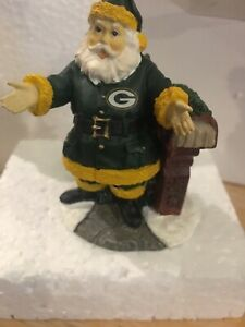 """Green Bay Packers  3"""" WELCOME Home Santa Ornament Figurine By The Memory Co New"""