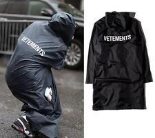 New Long Black Oversized Raincoat Vetements Waterproof Windbreaker Rain Jacket