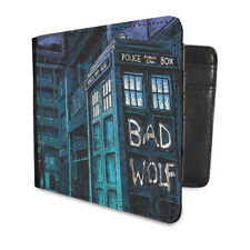 DOCTOR WHO BAD WOLF CITY TARDIS FLIP WALLET FAUX LEATHER MONEY ACCESSORY