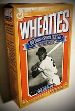 """Major League Baseball's WILLIE MAYS~Collector's """"WHEATIES"""" BOX~ Vintage 1993~VG+"""