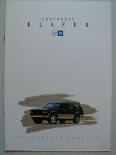 Prospectus 1993 Chevrolet Blazer, 1993, 12 pages