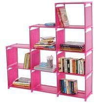 Scaffale libreria modulare multiuso 28x116x126cm rosa